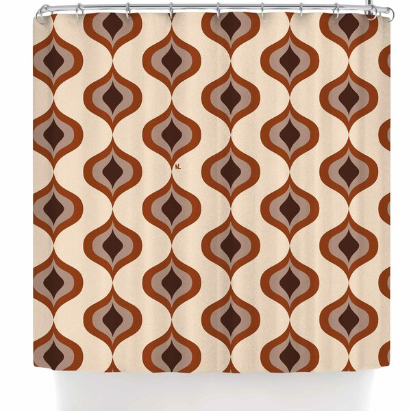 Nl Designs Retro Shower Curtain by East Urban Home