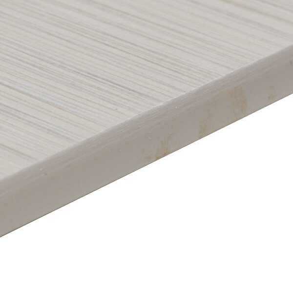 Fabrique 12 x 3 Porcelain Bullnose Tile Trim in Cr