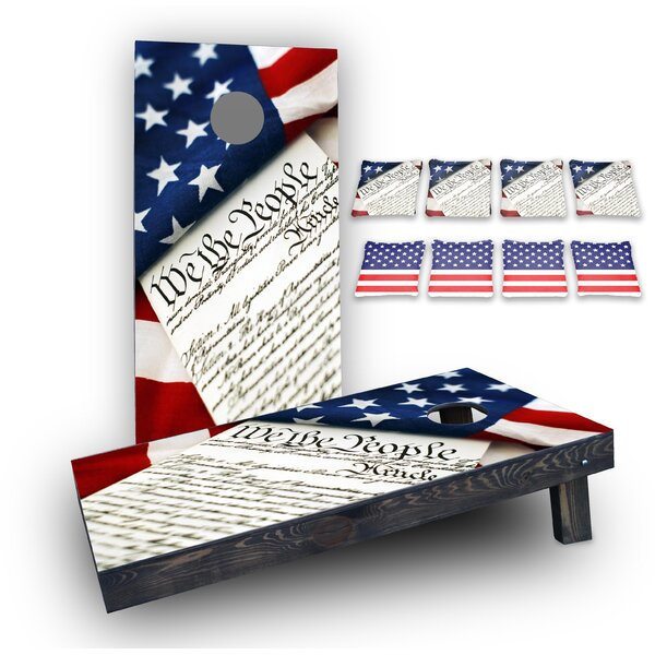 We The People Custom 10 Piece Cornhole Board Set by Custom Cornhole Boards