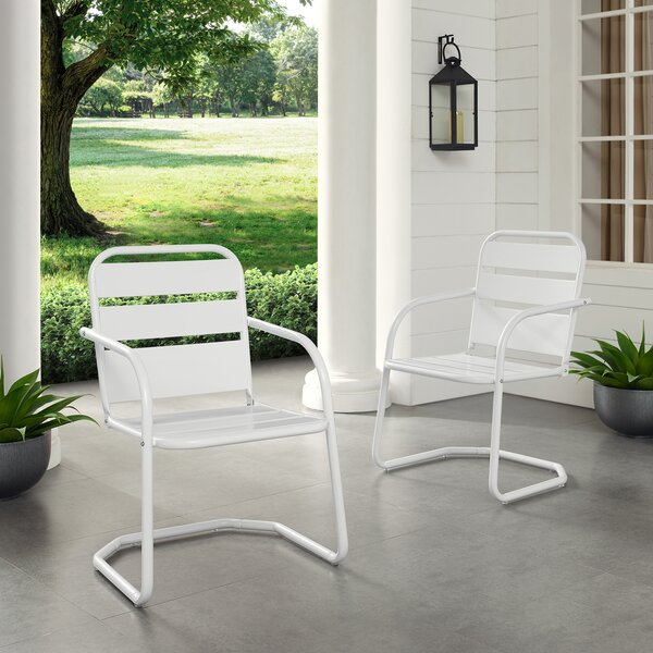 Karim Patio Dining Chair (Set of 2) by Wrought Studio Wrought Studio