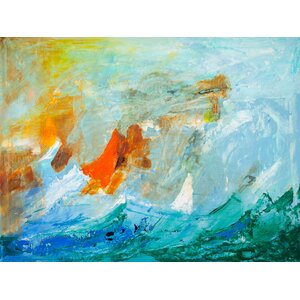 Sailing Abstract by Elizabeth Stacke Painting Print on Wrapped Canvas by Buy Art For Less