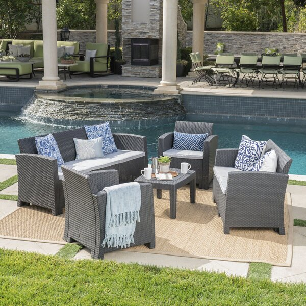 Yoselin 5 Piece Sofa Seating Group with Cushions by Andover Mills
