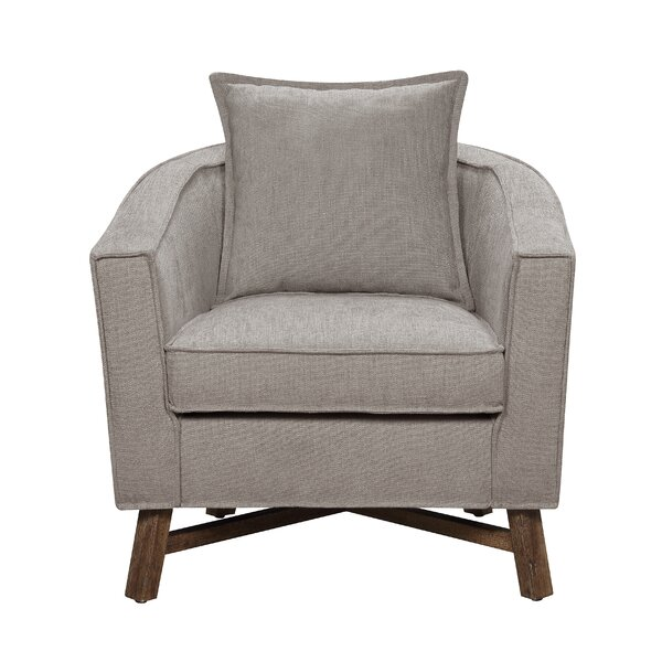 Sleaford Burlap Armchair by Gracie Oaks