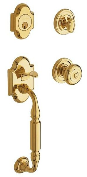 Canterbury Single Cylinder Handleset with Interior Knob and Sectional Trim by Baldwin