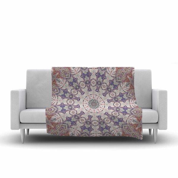 Alison Coxon Jungle Kaleidoscope Warm Fleece Throw by East Urban Home
