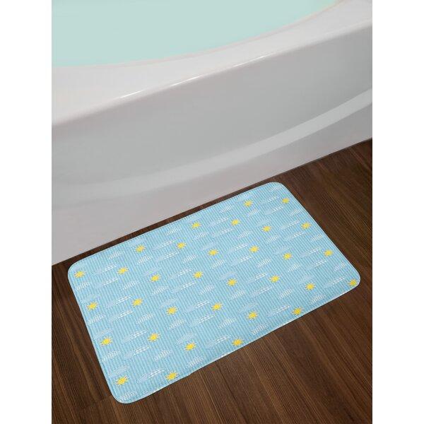 Cute Yellow and Blue Bath Rug by East Urban Home
