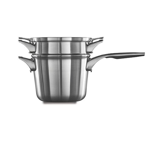 Calphalon Premier Space Saving Stainless Steel 2.5qt Chefs Pan with Cover