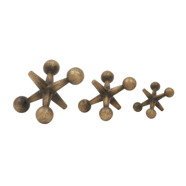 Wayne 3 Piece Jacks Sculpture Set by Langley Street