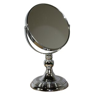 Budget Round X Nickel Magnify Mirror ByDarby Home Co