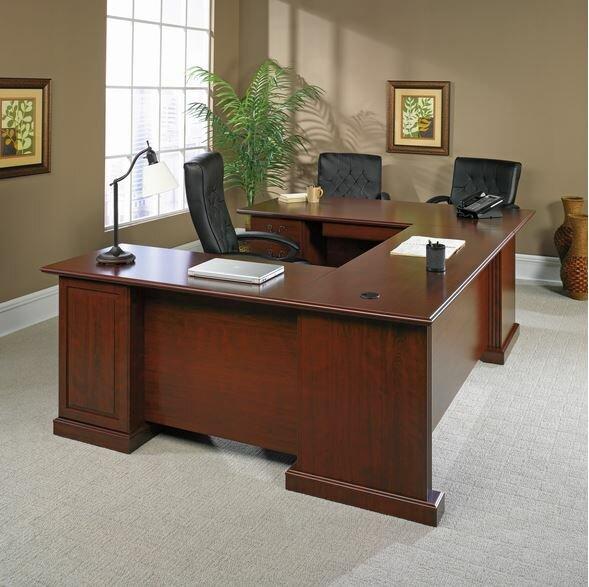Clintonville 4 Pieces U-Shape Desk Office Suite by Darby Home Co
