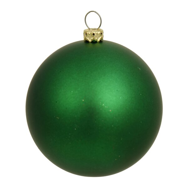 Ball UV Drilled Cap Christmas Ornament by The Holiday Aisle
