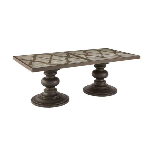Euston Outdoor Rectangle Dining Table by Canora Grey
