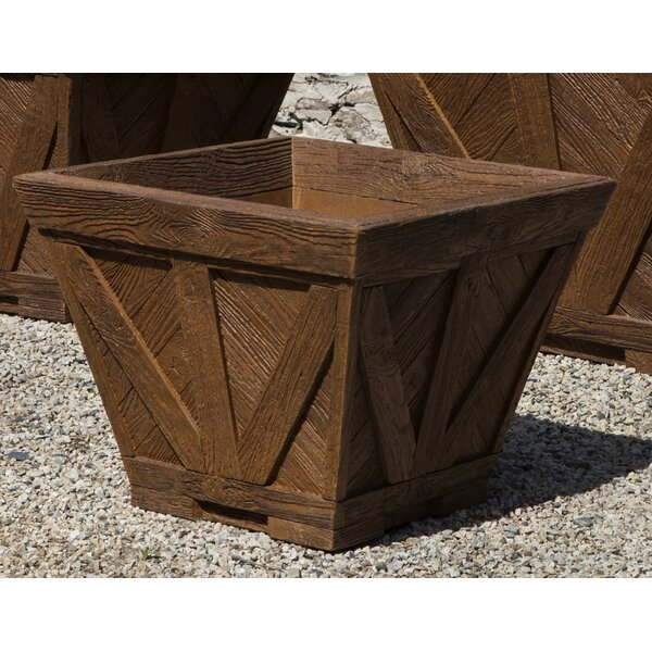 Brew Kettle Medium Cast Stone Planter Box by Foundry Select