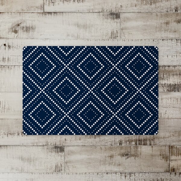 Sharonville Squares Kitchen Mat