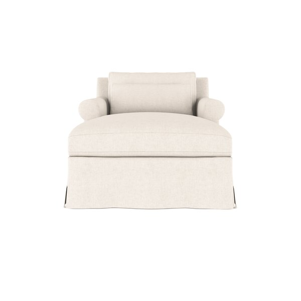 Autberry Vintage Leather Chaise Lounge By Canora Grey