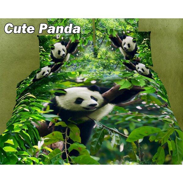 Cute Panda Cotton Duvet Cover Set by Dolce Mela