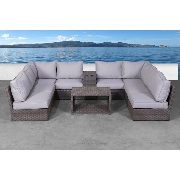 Cody 10 Piece Rattan Sofa Seating Group with Cushions