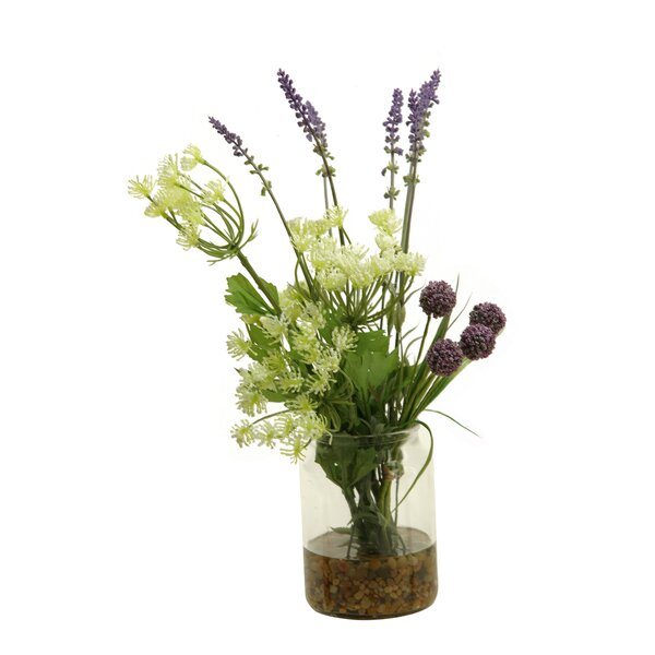 Mixed Floral Arrangement in Planter by Ophelia & Co.