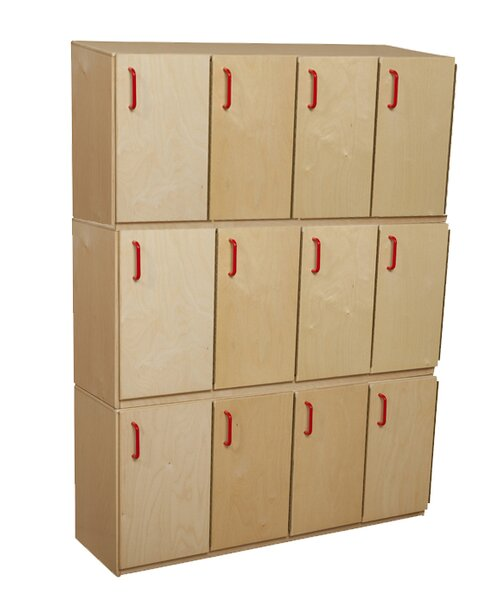 3 Tier 4 Wide School Locker by Wood Designs