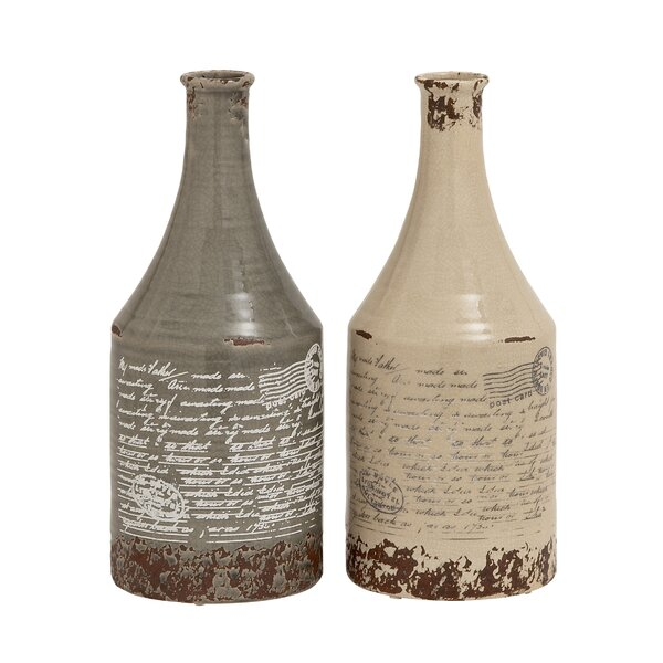 Themed Classy 2 Piece Floor Vase Set (Set of 2) by Cole & Grey