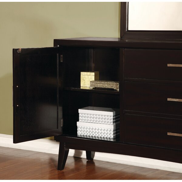 Jacob 3 Drawer Combo Dresser with Mirror by Red Barrel Studio