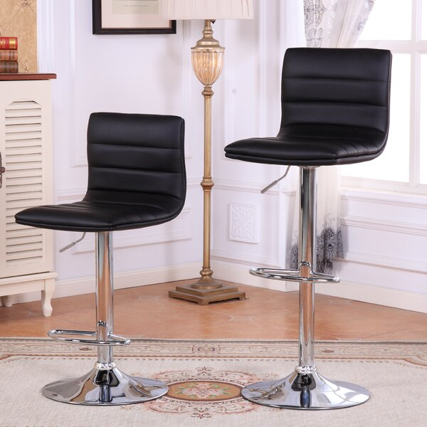 Adjustable Height Swivel Bar Stools (Set of 2) by Roundhill Furniture