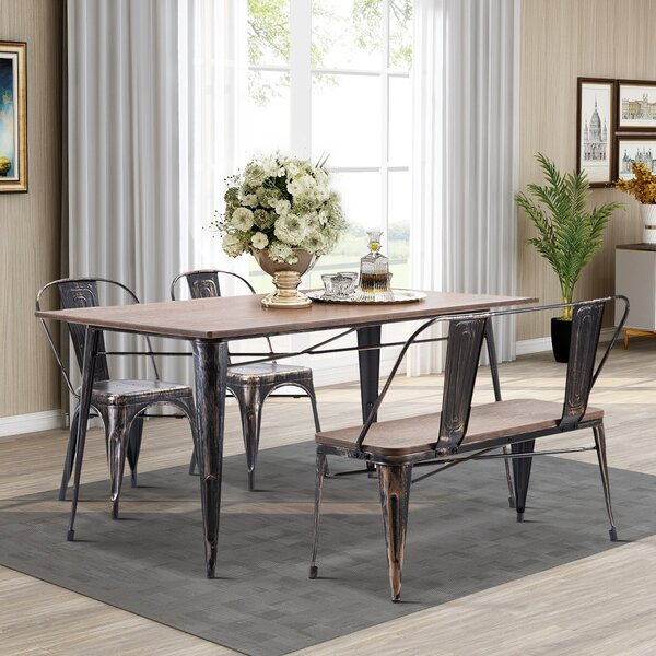 Elem 4 Piece Solid Wood Dining Set by 17 Stories 17 Stories