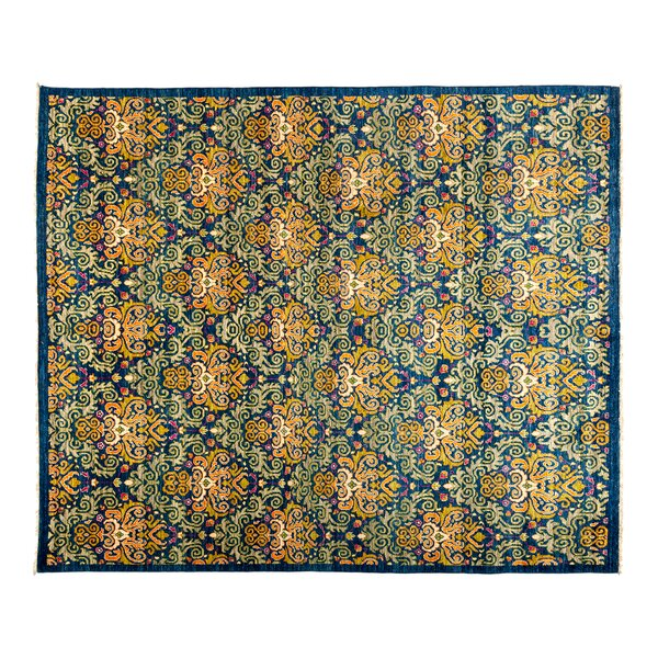 One-of-a-Kind Eclectic Hand-Knotted Blue/Green Area Rug by Darya Rugs