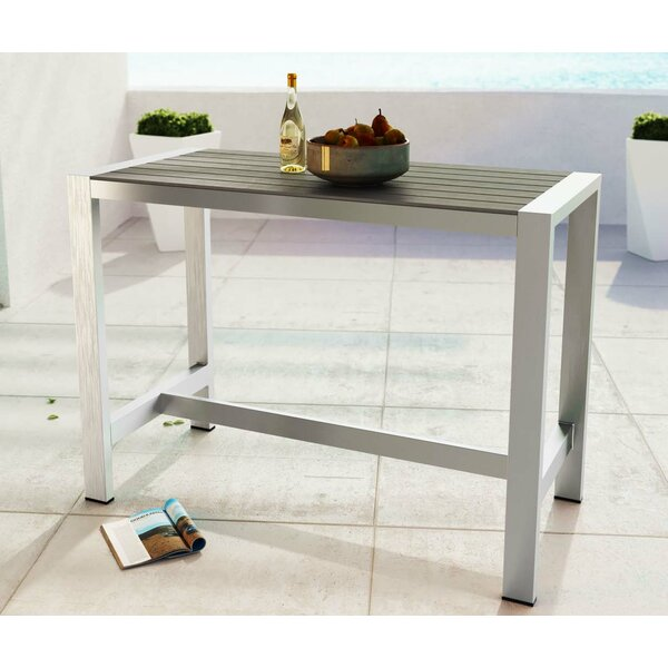 Coline Aluminum Bar Table by Orren Ellis