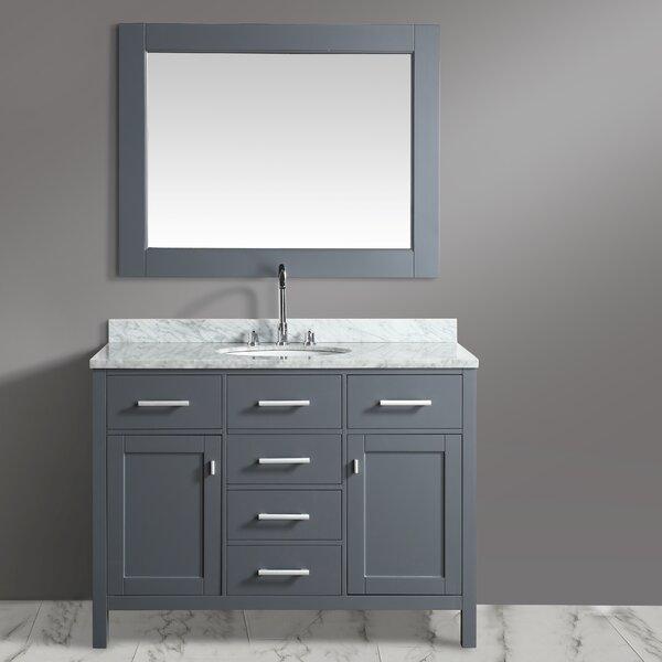 London Stanmark 48 Single Bathroom Vanity Set with Mirror