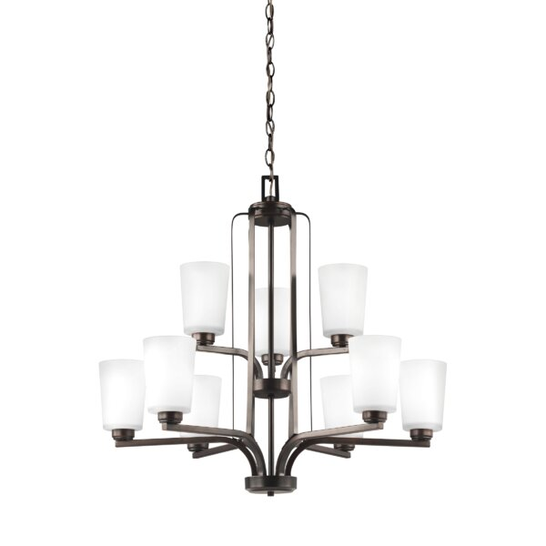Giana 9 - Light Shaded Tiered Chandelier By Winston Porter