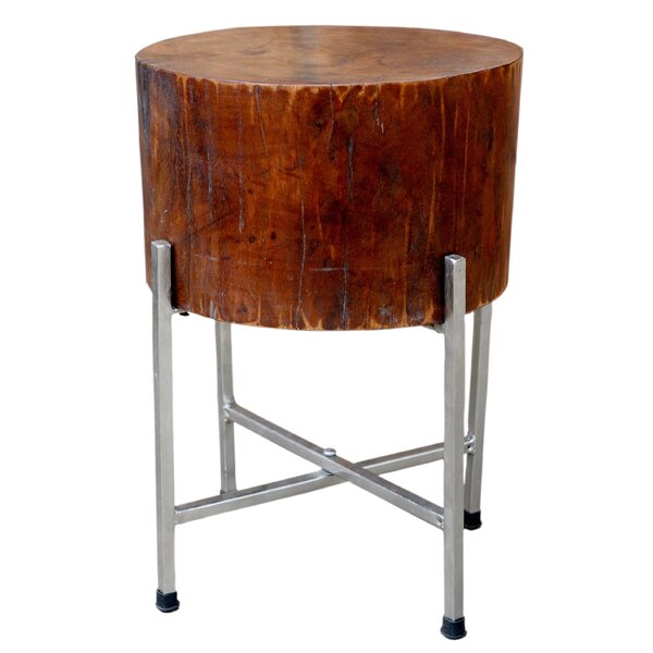 Solid Wood Block End Table