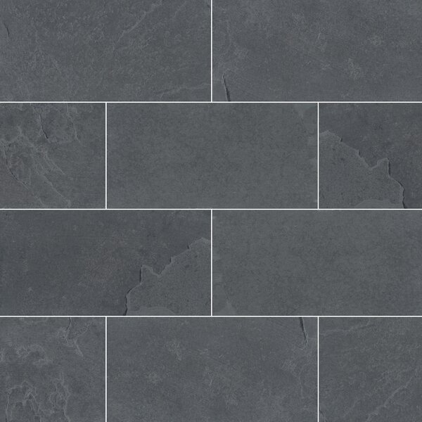 Montauk 3 x 6 Slate Subway Tile in Gray by MSI