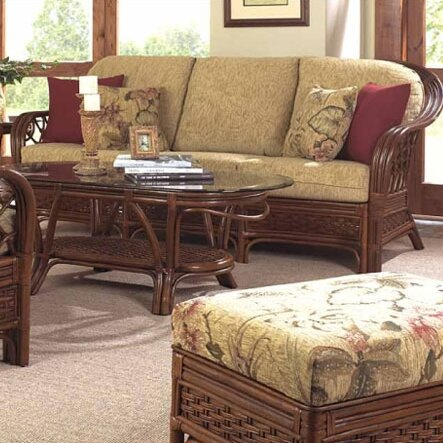 Coco Cay Sofa with Cushions by Boca Rattan