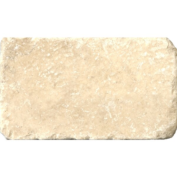 Travertine 3 x 6 Subway Tile in Tumbled Cream by Emser Tile