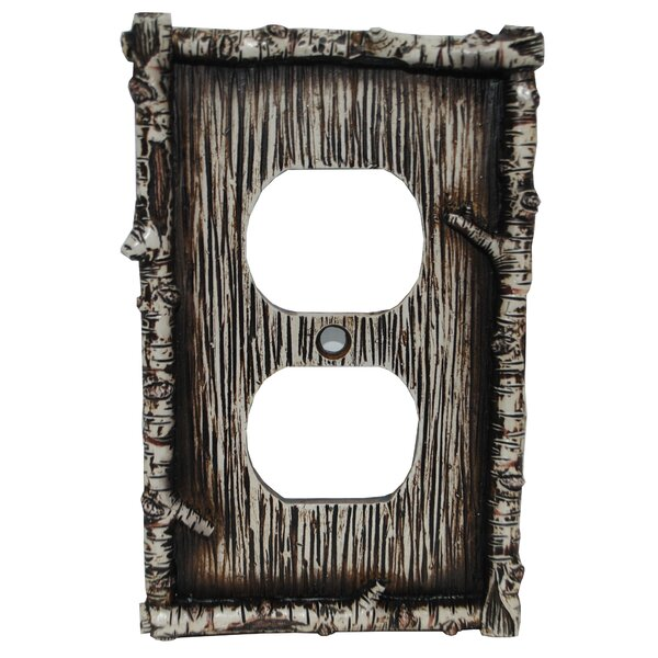 Birch Twig Single Outlet Cover (Set of 4) by HiEnd Accents