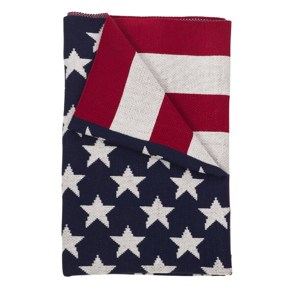 Sevan American USA Flag Stars and Stripes Throw by The Holiday Aisle