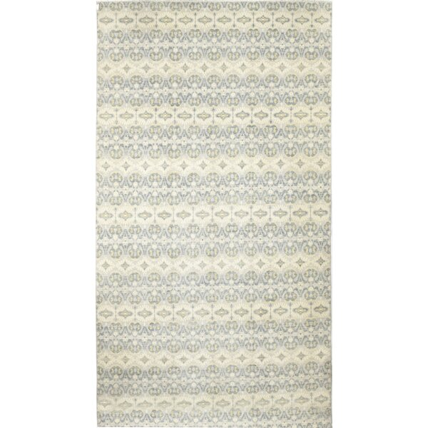One-of-a-Kind Curcio Hand-Knotted Wool Blue/Beige Indoor Area Rug by Isabelline