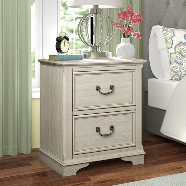 Trenton 2 Drawer Nightstand by Rosecliff Heights