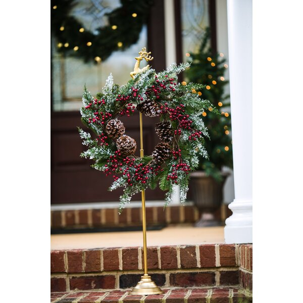 Reindeer Wreath Holder by Charlton Home