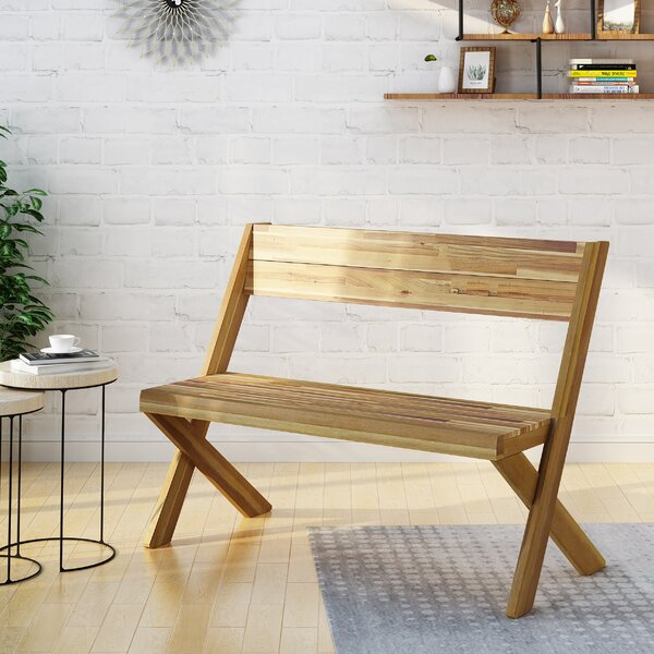 Acacia Wood Bench by Bay Isle Home