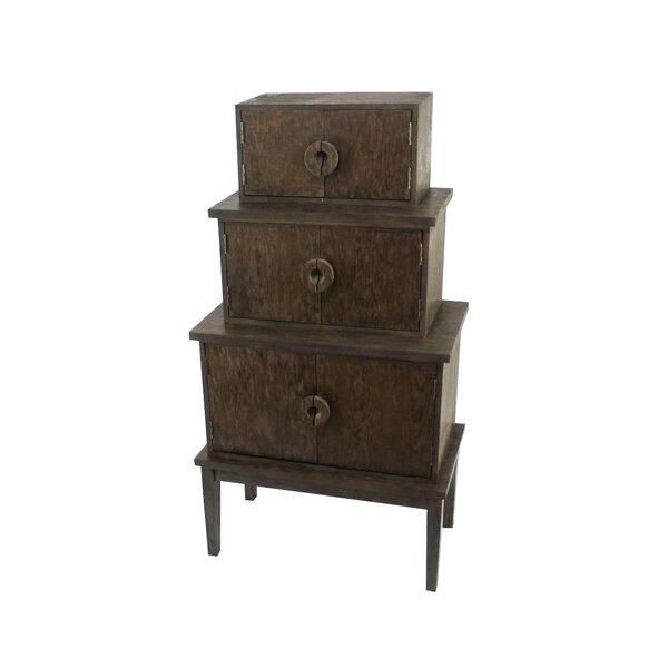 Crestwood 34 W x 60 H Cabinet by World Menagerie