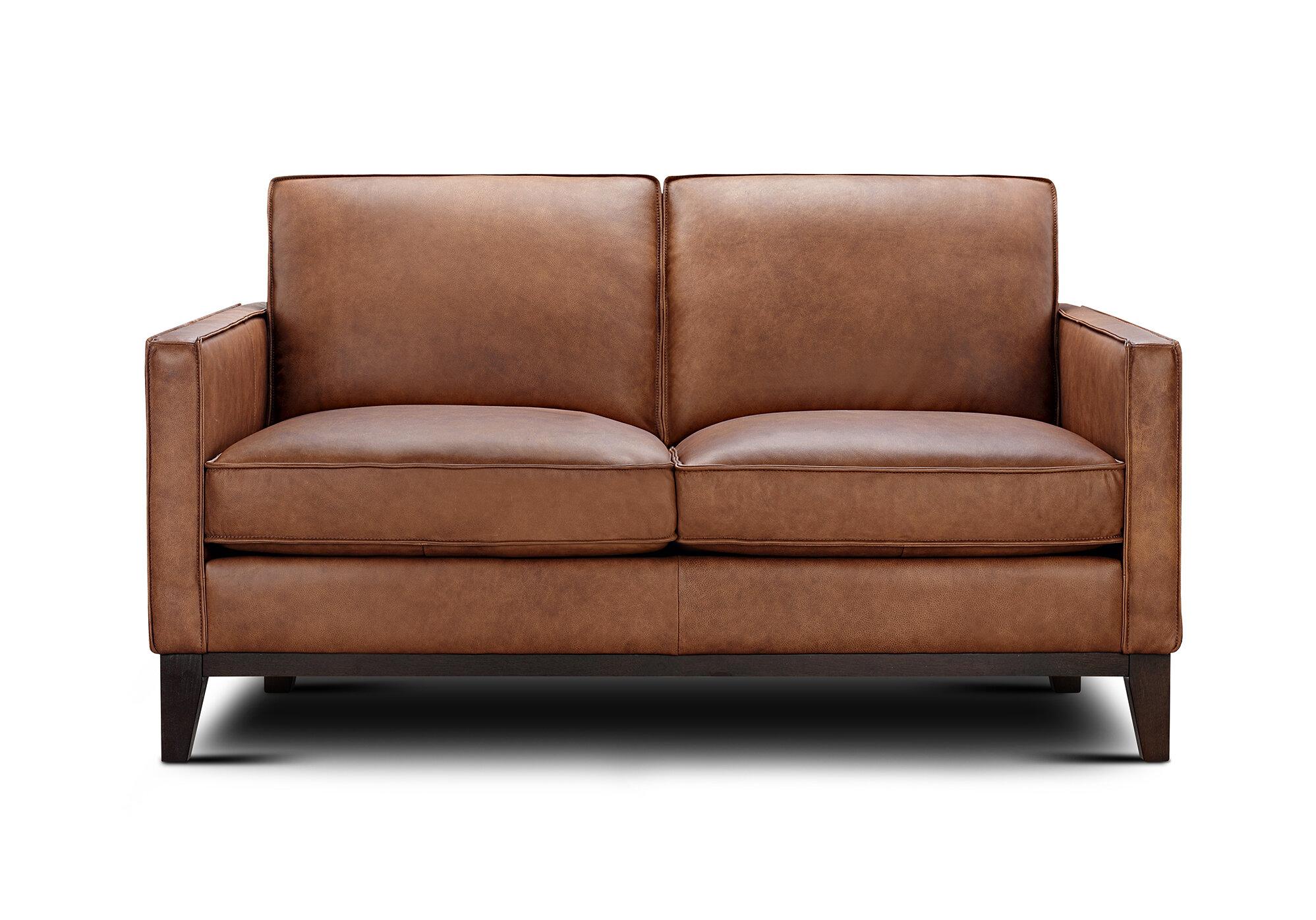 Awe Inspiring Whitson Leather Loveseat Ibusinesslaw Wood Chair Design Ideas Ibusinesslaworg