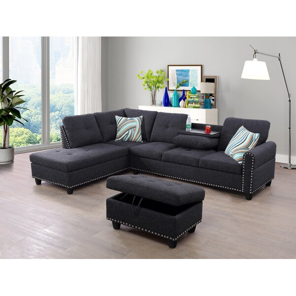 Rico Sectional With Ottoman By Rosdorf Park