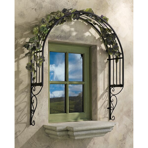 Thornbury Iron Arched Trellis by Design Toscano