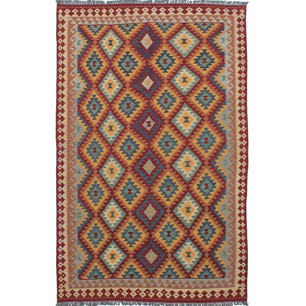 One-of-a-Kind Anatolian Handmade Wool Red/Blue Area Rug by ECARPETGALLERY