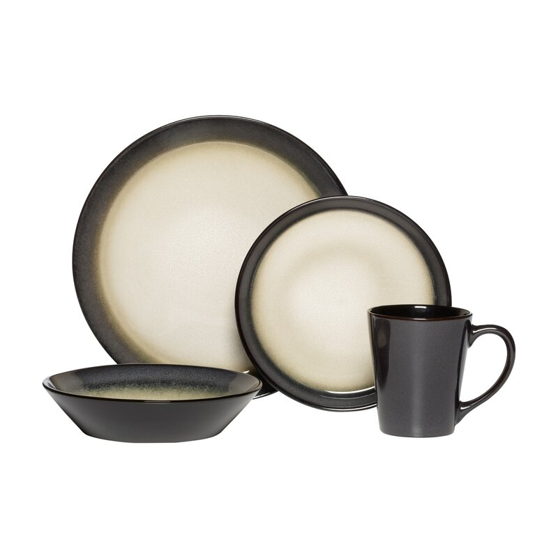 Aria 16 Piece Dinnerware Set Service for 4  sc 1 st  Wayfair & Pfaltzgraff Everyday Aria 16 Piece Dinnerware Set Service for 4 ...