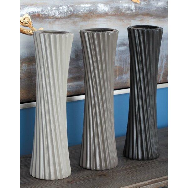 Assorted 3 Piece Floor Vase Set (Set of 3) by Cole & Grey