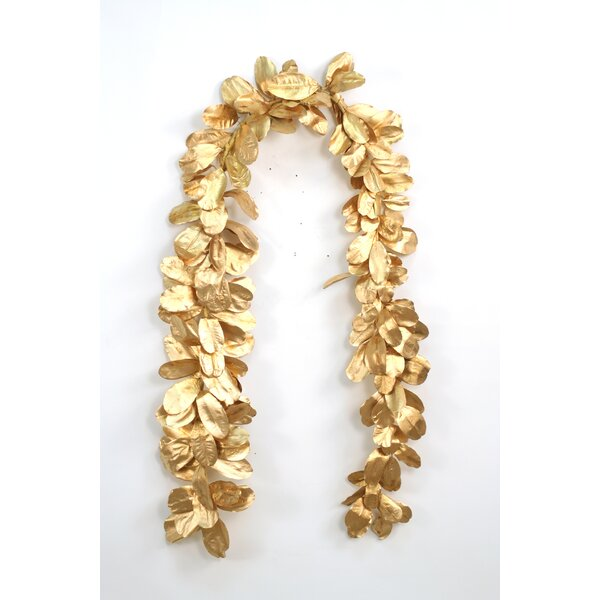 Natural Laurel Leaf Garland (Set of 2) by Distinctive Designs