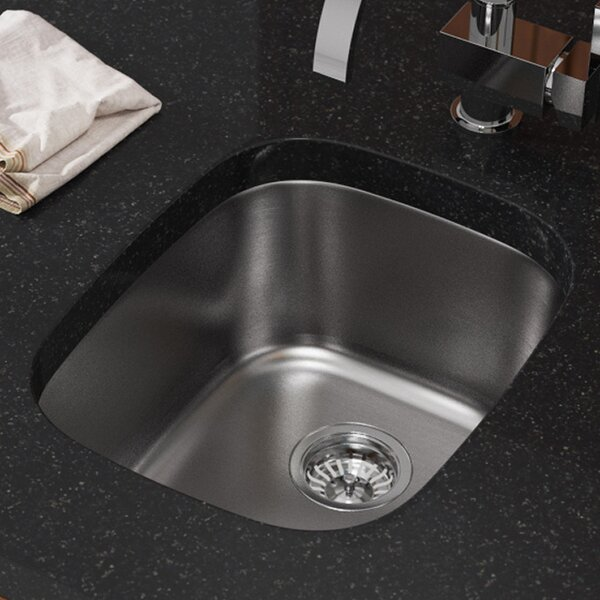 Stainless Steel 18 x 15 Undermount Bar Sink by MR Direct